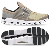 On Cloudswift Men's Road Running Shoe. (Sand/Grey)