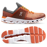 On Cloudswift Men's Road Running Shoe. (Rust/Rock)