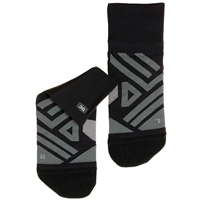 On Running Men's Mid Sock. (Black/Shadow)