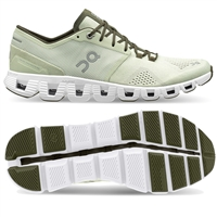 On Cloud X Men's Running Shoe (Aloe/White)