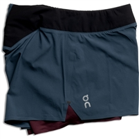 On Running Women's Ultralight Shorts. (Navy/Mulberry)