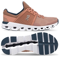 On Cloudswift Women's Road Running Shoe. (Blush/Denim)