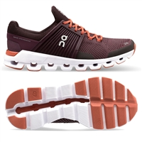On Cloudswift Women's Road Running Shoe. (Plum/Dawn)