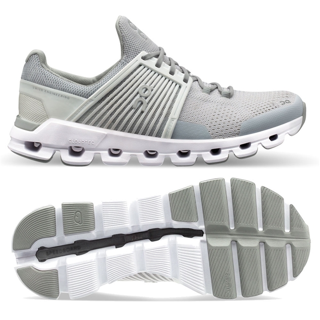 On Cloudswift Women's Road Running Shoe. (Glacier/White)