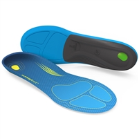 Superfeet Run Comfort Thin Shoe Insoles. (Blue/Black)