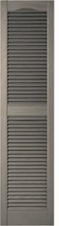 Cathedral Top, Open Louver, Center Mullion Custom Vinyl Shutters (2 pack)