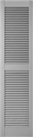 Straight Top, Open Louver, Center Mullion Custom Vinyl Shutters (pair)