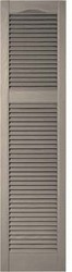 Cathedral Top, Open Louver, Offset Mullion Custom Vinyl Shutters (pair)