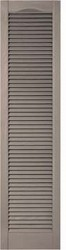 Cathedral Top, Open Louver Custom Vinyl Shutters (pair)