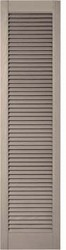 Straight Top, Open Louver Custom Vinyl Shutters (pair)