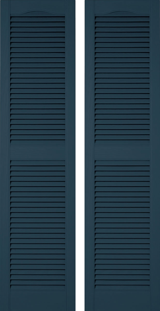 Fixed Open Louver Mid America Cathedral Style Master Vinyl