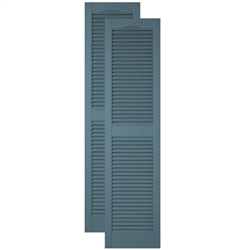 1 Pair 14.5 x 72 166 Midnight Blue Mid America Cathedral Open Louver Vinyl Standard Shutter Building Materials