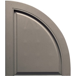 14-1/2 inch Open Louver Quarter Round Arch Top