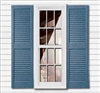 "12"" Girardin 2-pack Polymer Vinyl Closed Louver Straight Top Exterior Louver Shutter"