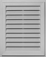 "Mid-America 12""w x 18""h Rectangle Vinyl Gable Vent (each)"