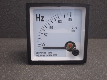 55 to 65 HZ Analog Frequency Meter