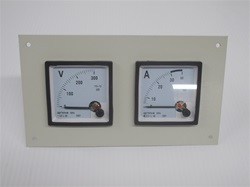 72 MM PANEL METERS WITH TWIN HOLE FACE PLATE