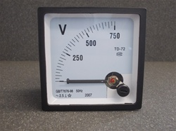 0-750V AC, Analog Panel Voltmeter (72mmx72mmx45mm)