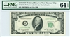 2010-JN Narrow, $10 Federal Reserve Note Kansas City, 1950