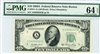 2011-A, $10 Federal Reserve Note Boston, 1950A