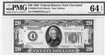 2050-D (DA Block), $20 Federal Reserve Note Cleveland, 1928