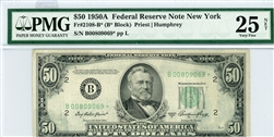 2108-B*, $50 Federal Reserve Note New York, 1950A