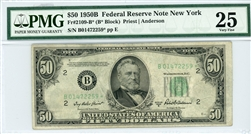 2109-B*, $50 Federal Reserve Note New York, 1950B
