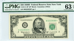 2111-B*, $50 Federal Reserve Note New York, 1950D