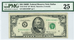 2116-K*, $50 Federal Reserve Note Dallas, 1969B