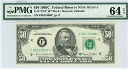 2117-F*, $50 Federal Reserve Note Atlanta, 1969C