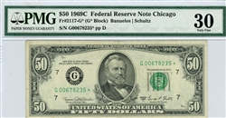2117-G*, $50 Federal Reserve Note Chicago, 1969C