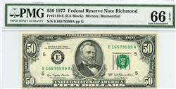 2119-E, $50 Federal Reserve Note Richmond, 1977
