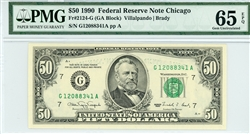 2124-G, $50 Federal Reserve Note Chicago, 1990