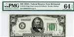 2101-Edgs Dark Green, $50 Federal Reserve Note Richmond, 1928A