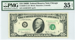 2020-G (GC Block), $10 Federal Reserve Note Chicago, 1969B