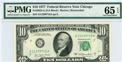 2023-G (GA Block), $10 Federal Reserve Note Chicago, 1977