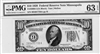 2000-I (IA Block), $10 Federal Reserve Note Minneapolis, 1928