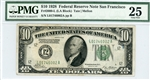 2000-L (LA Block), $10 Federal Reserve Note San Francisco, 1928