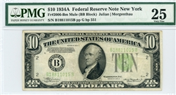 2006-Bm Mule (BB Block), $10 Federal Reserve Note New York, 1934A