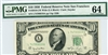 2010-LW Wide (LA Block), $10 Federal Reserve Note San Francisco, 1950