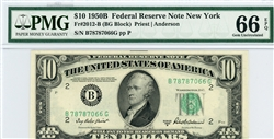 2012-B (BG Block), $10 Federal Reserve Note New York, 1950B