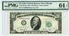 2010-GW Wide (GB Block), $10 Federal Reserve Note Chicago, 1950