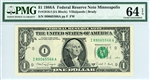 1916-I (IA Block), $1 Federal Reserve Note Minneapolis, 1988A