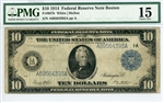 907b, $10 Federal Reserve Note Boston, 1914