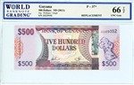 37*, 500 Dollars Guyana, ND (2011)