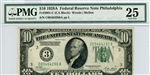 2001-C (CA Block), $10 Federal Reserve Note Philadelphia, 1928A