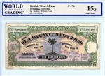 7b, 10 Shillings British West Africa, 1-12-1942