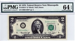 1935-I* (I* Block), $2 Federal Reserve Note, 1976