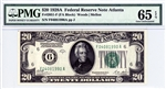 2051-F (FA Block), $20 Federal Reserve Note Atlanta, 1928A