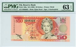 100a, 50 Dollars Fiji, ND (1996)